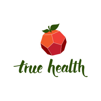 template logo with geometric fruit