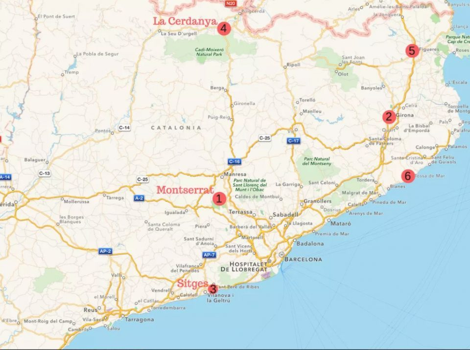 Several Day Trips from Barcelona