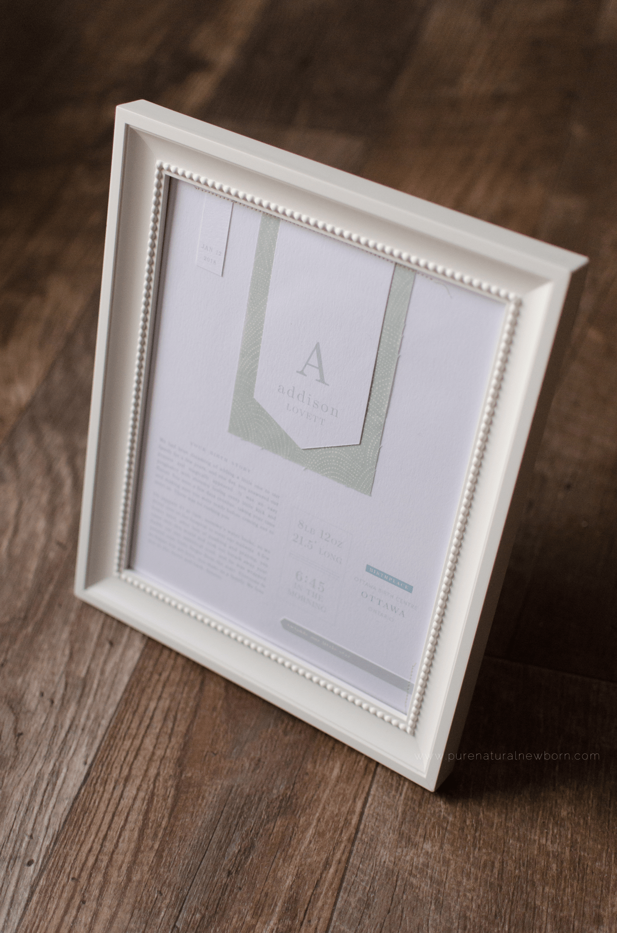 studio-decor-details-lafabere-baby-framed-birth-announcement-nursery-prints-pure-natural-newborn-photography-ottawa