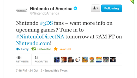 Nintendo Direct 10/25 – NA at 10am ET, JP at 7am ET, to focus on 3DS