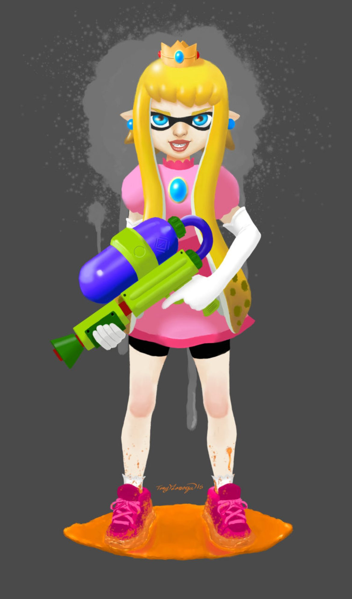 Princess Squidsy Peach
