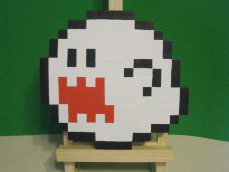 Boo Wooden Sprite Plaque by MrGilder