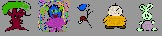 A sample of my varied sprite creations