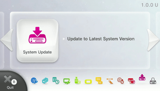 Wii U system updated for the first time in 18 months