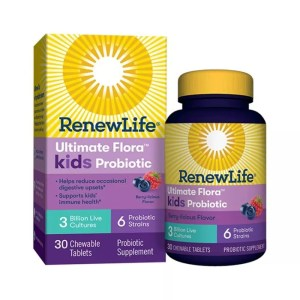 ReNew Life - Ultimate Flora Kids Probiotic - Berry - 30 Chewable Tablets