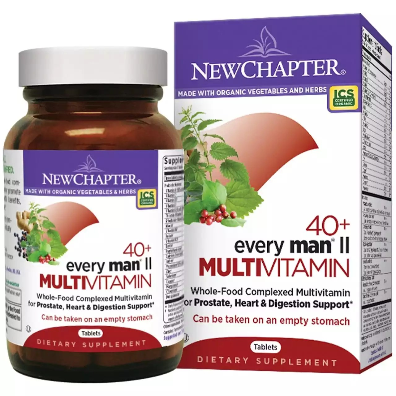 New Chapter | Every Man's 40+ Multivitamins