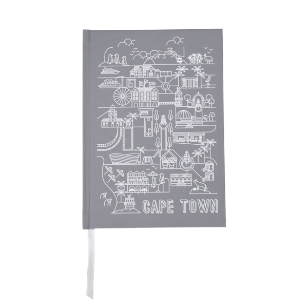 Pure Designer Products Cape Town illustration grey blank sketchbook or notebook front