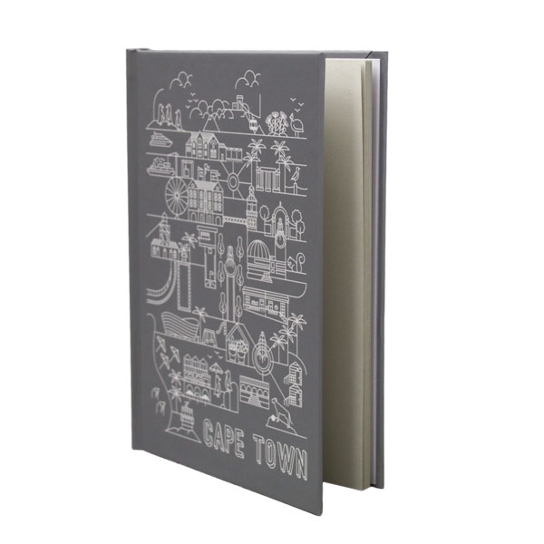 Pure Designer Products Cape Town illustration grey blank sketchbook or notebook standing