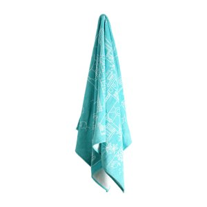 Pure Designer Products Cape Town illustration towel blue hanging