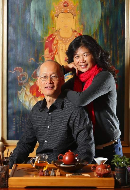 Yang Su and Larry Press Democrat photo