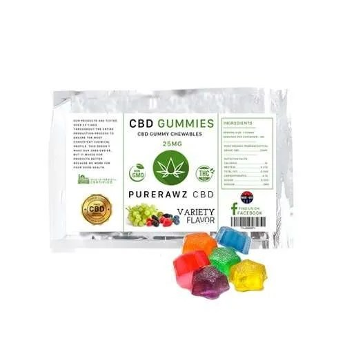 CBD Gummy Flavors & Sizes