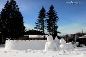 snow sculpture saginaw