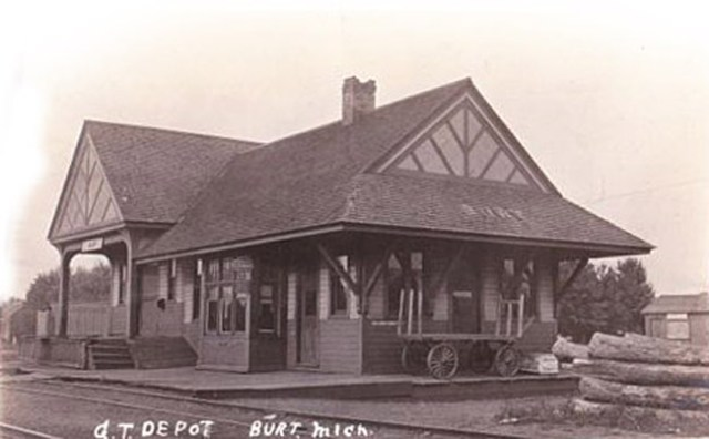 Burt Michigan train depot