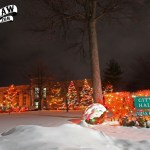 Saginaw city hall holiday lights