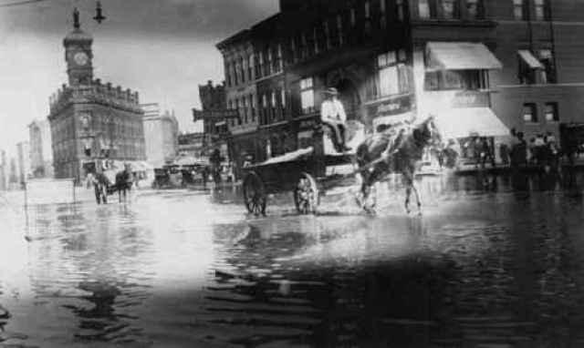 downtown saginaw flood