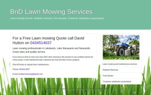 BnD LAwn Mowing Single Page