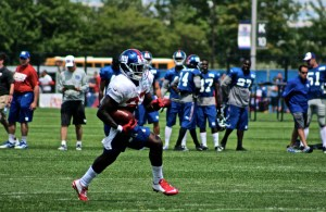 RB David Wilson Practices at Giants Camp before injury. (Credit: Bobby O'Hara PureSportsNY)