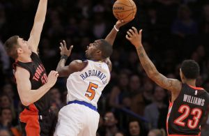 Credit: Seth Wenig/AP ... Tim Hardaway Jr. has played well offensively in Shumpert and Smith's absence
