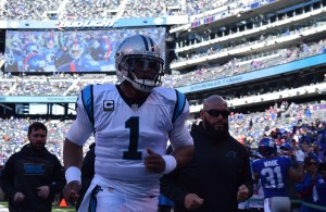 Credit: Barry Holmes/PureSportsNY ... Cam Newton was focused on keeping his team undefeated Sunday afternoon.