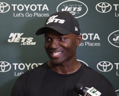 (Photo Credit: Barry Holmes/PureSportsNY) Coach Bowles was all smiles Saturday afternoon after practice.