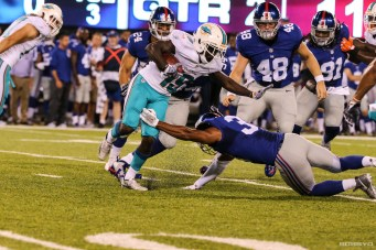 Dolphins #19 Jakeem Grant Showed his versatility in his first NFL Game at special teams and receiver. (photo credit: Bobby O'Hara)