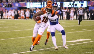 Giants CB Jenoris Jenkins held Bengals WR AJ Green in check