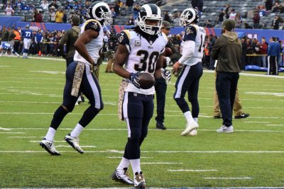(Photo Credit: Barry Holmes) Gurley II rushed for two touchdowns against New York.