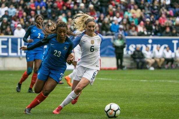 Morgan Brian played a full 90 mins Sunday vs. France (Photo: Bobby O'Hara/PureSportsNY)