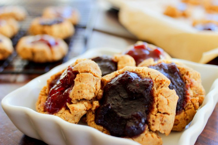 Thumbprint Cookies (vegan and gluten-free)