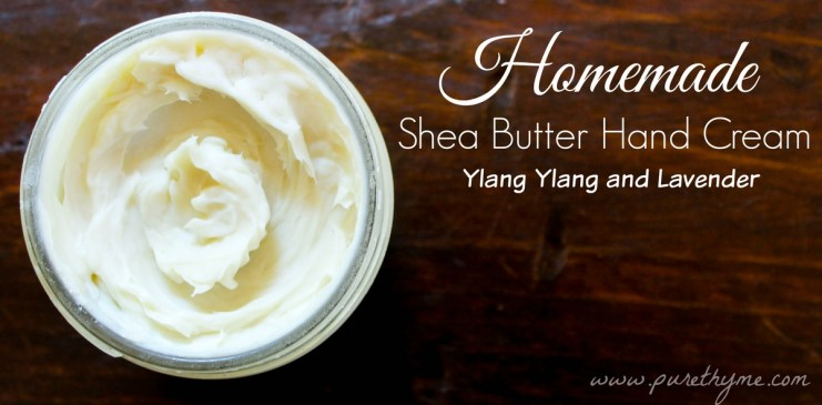 Homemade Shea Butter Hand Cream Recipe with Ylang Ylang and Lavender Essential Oils