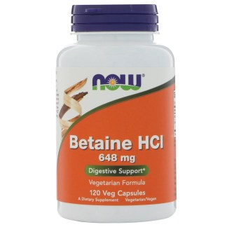 Now Foods, Betaine HCL, 648 mg, 120 Veggie Caps