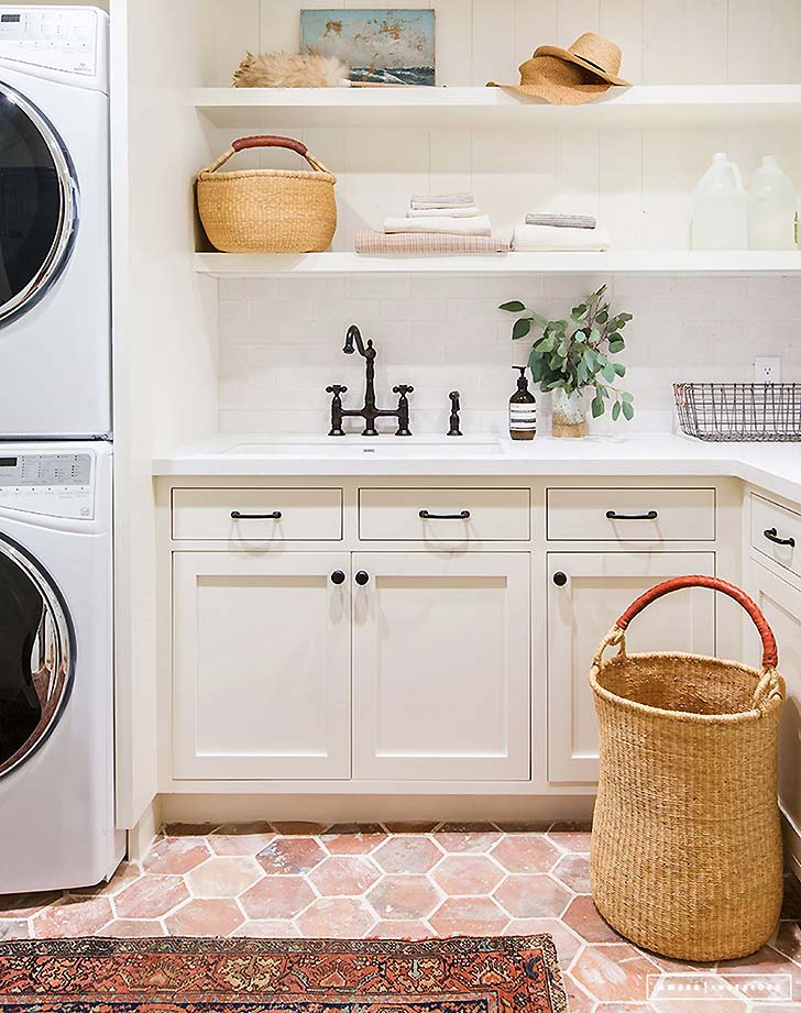 2 Laundry Room Upgrade Ideas For An Easy Makeover - PureWow on Laundry Room Shelves Ideas  id=51986