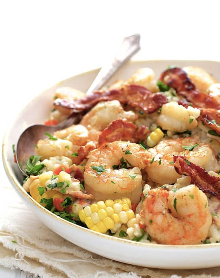 shrimp and corn bacon risotto recipe