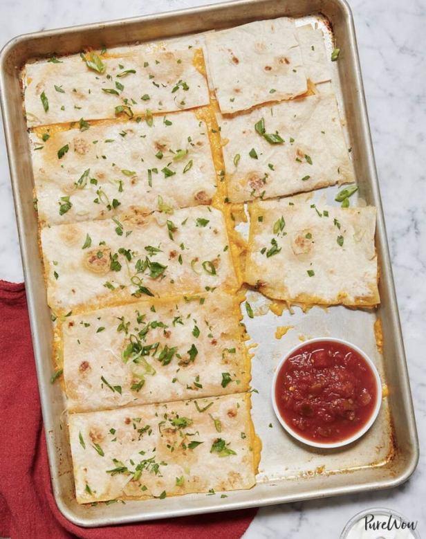 baking sheet quesadilla