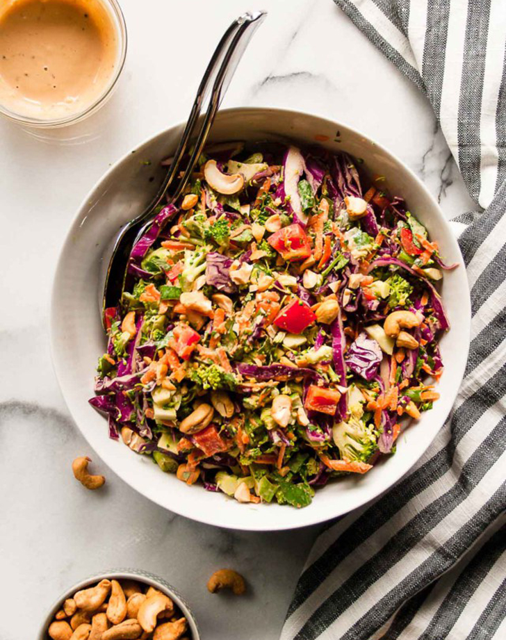 chopped thai salad creamy cashew dressing recipe