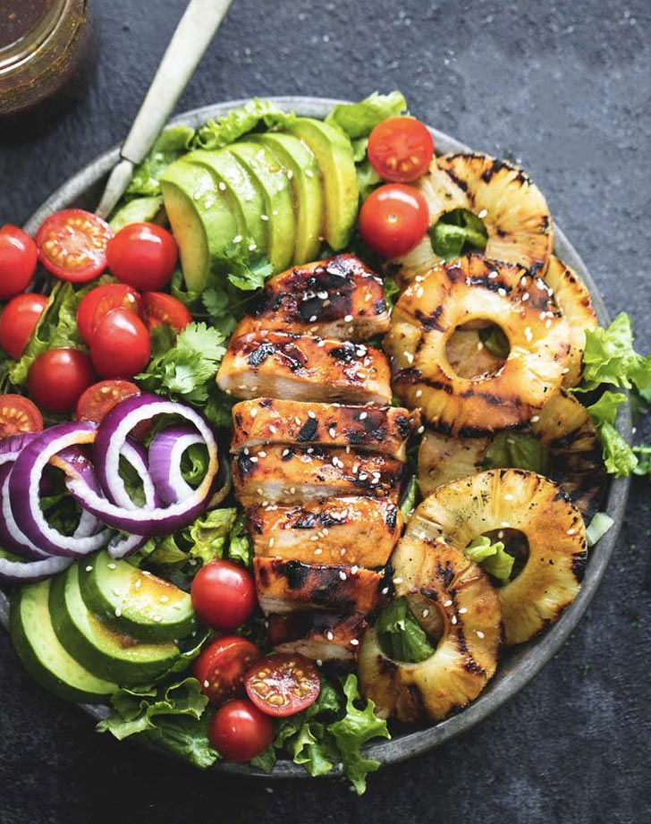 grilled chicken teriyaki salad recipe