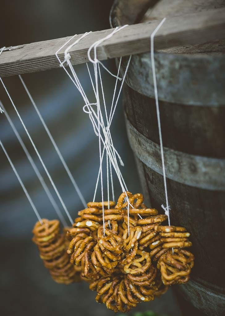 pretzel bar wedding