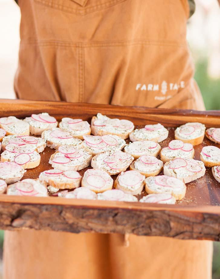wedding snack crostini