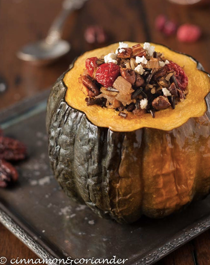 wild rice stuffed acorn squash recipe