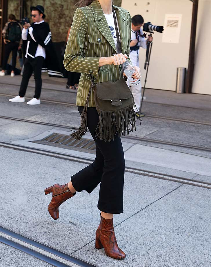 ankle boots with cropped trouser
