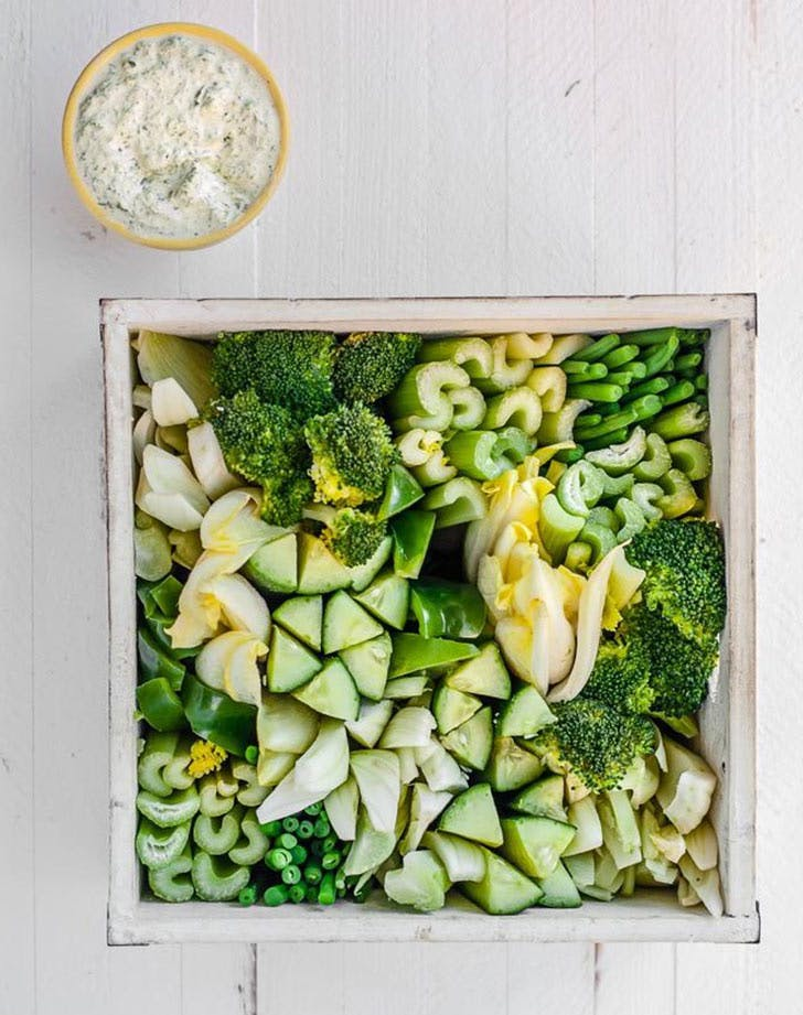 green crudites platter 9211