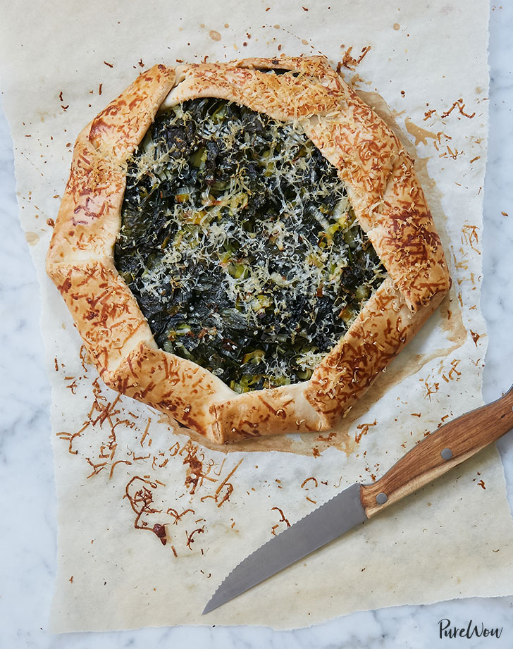 kale and cheddar cheese galette recipe
