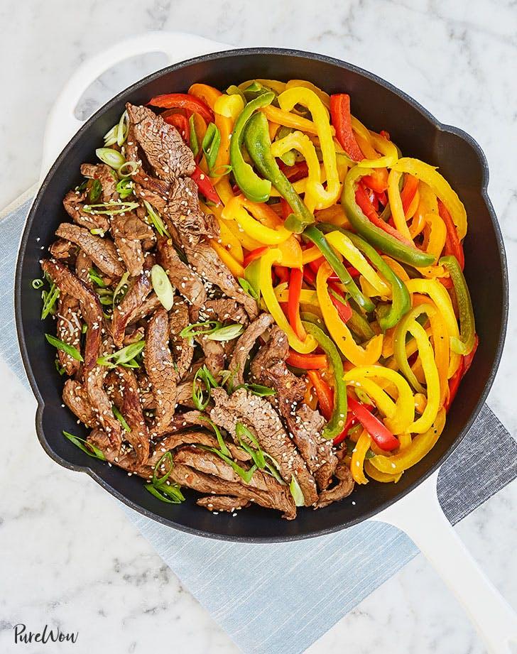 15 Minute Skillet Pepper Steak