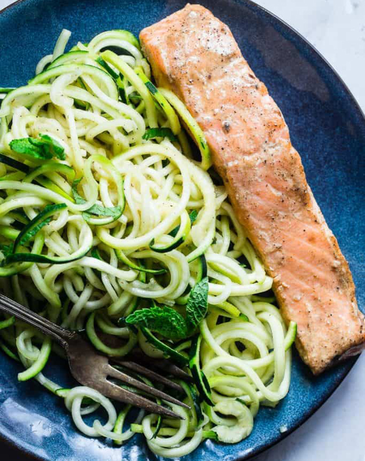 indian salmon curry zucchini noodles coconut milk recipe