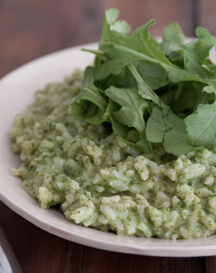arugula risotto recipe