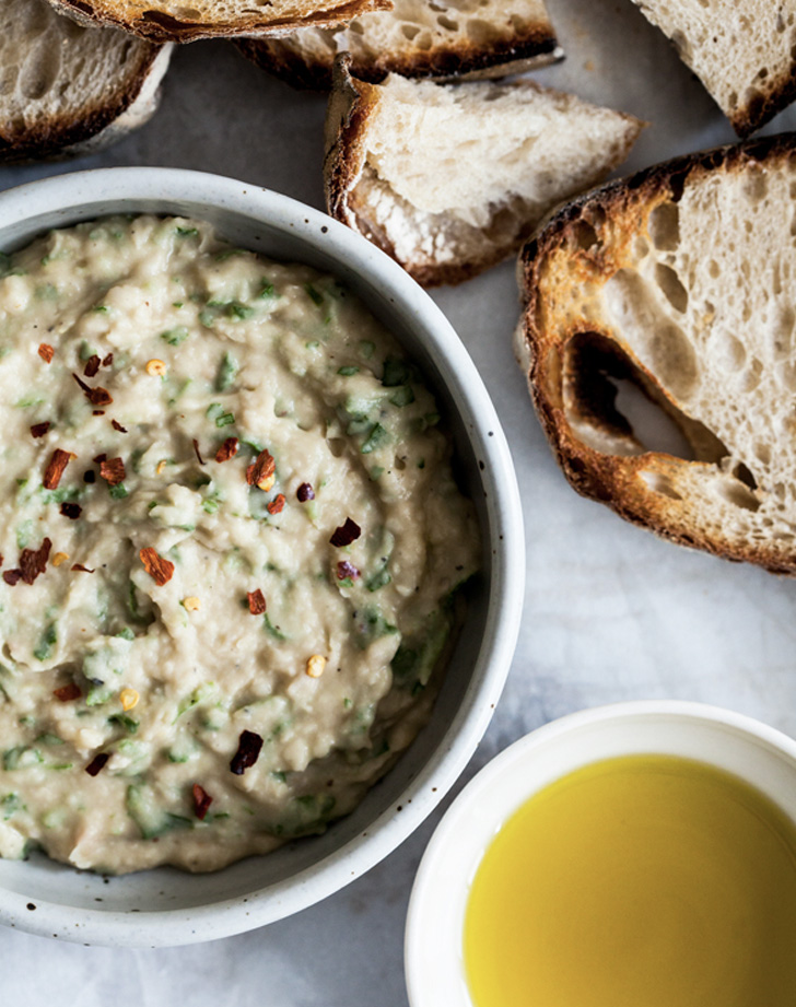 emilie raffas everyday sourdough and spicy wine bean arugula dip recipe