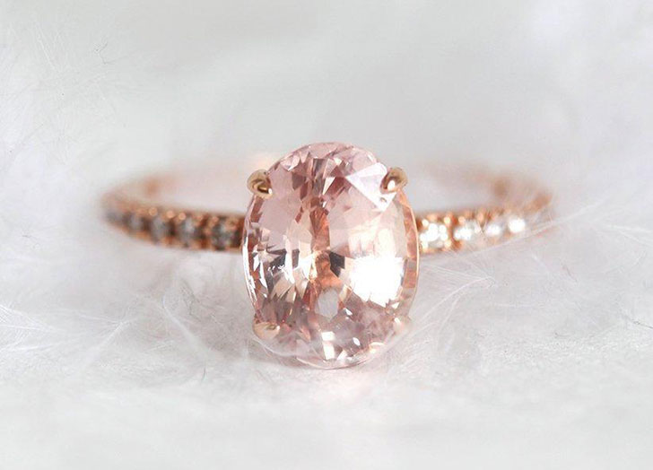 pink sapphire engagement ring 3