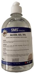 Frasco de álcool de 500 mL sem doseador