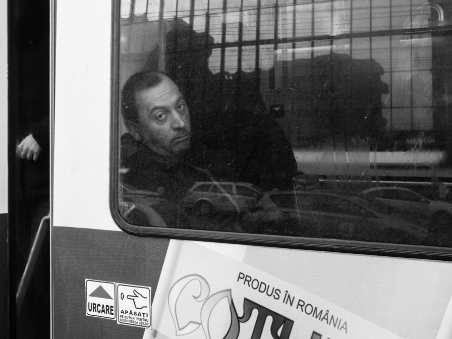 tram guy at the window