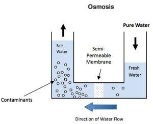 Diagrama de ósmosis inversa